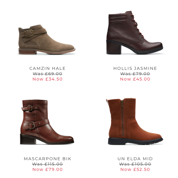Boot up for less at Clarks