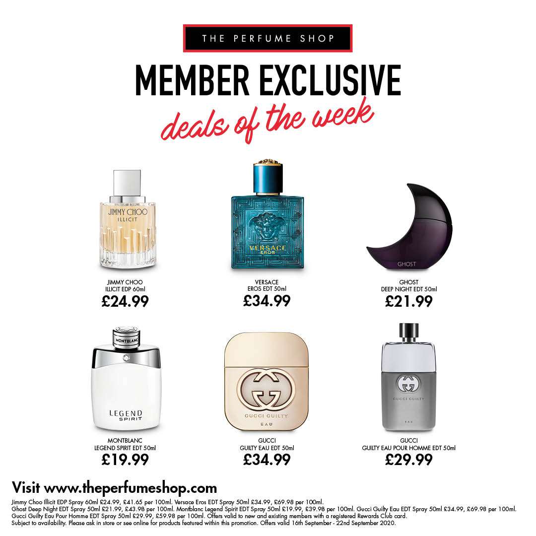 Club prices at The Perfume Shop