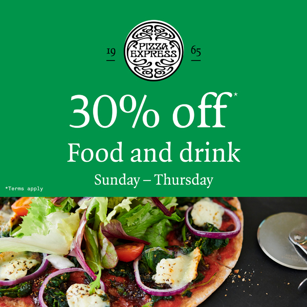 Dine out for less at PizzaExpress