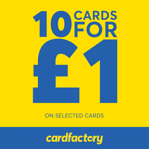 Get 10 for £1 at Card Factory