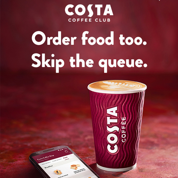 Pre-order food at Costa