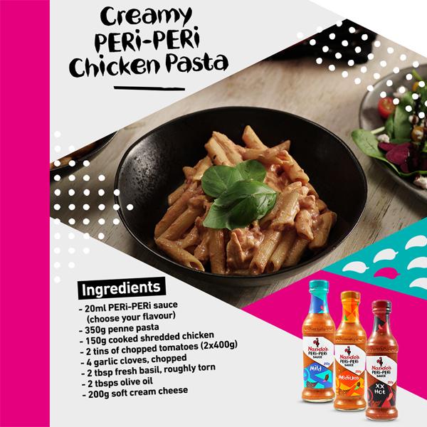 Cook up Nando's PERi-PERi pasta