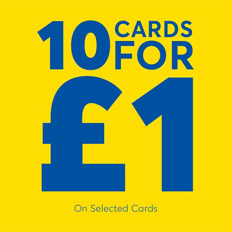 Buy 10 for £1 at Card Factory