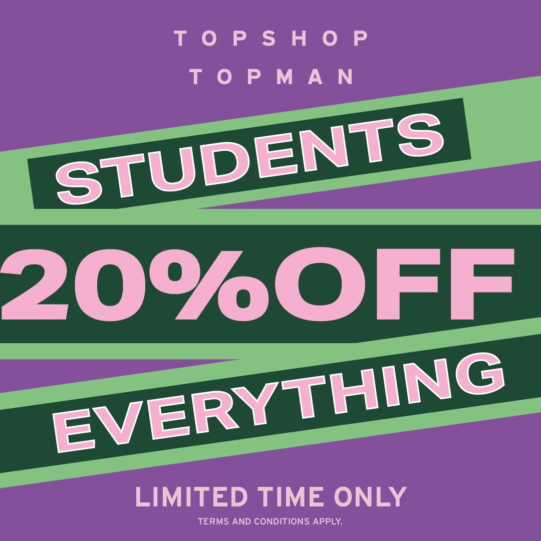 Students save more at Topshop