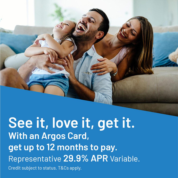 Spread the cost at Argos