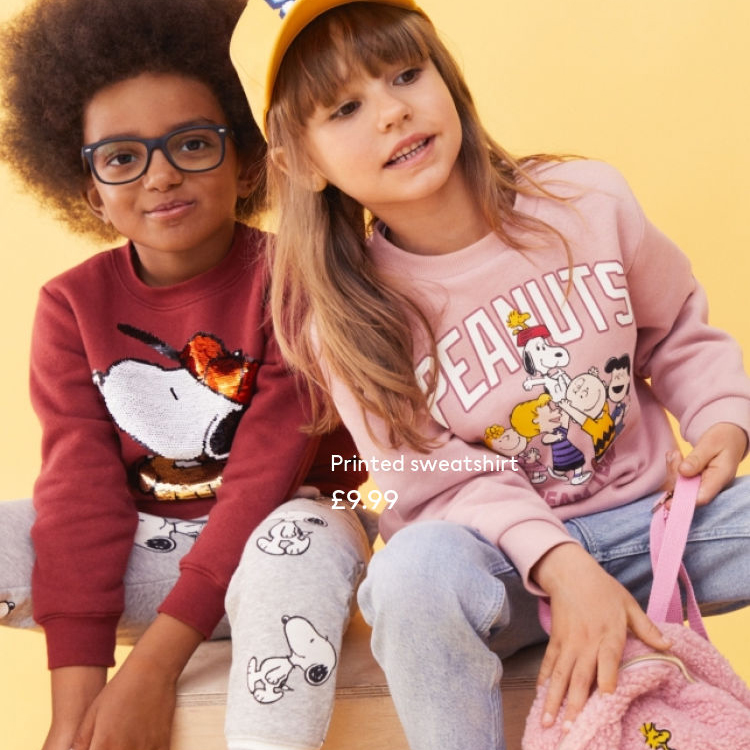Peanuts is back at H&M