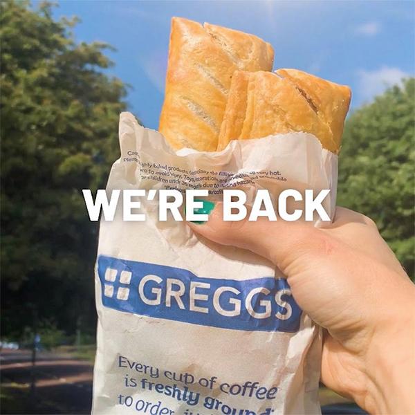 Greggs brings a taste of normal