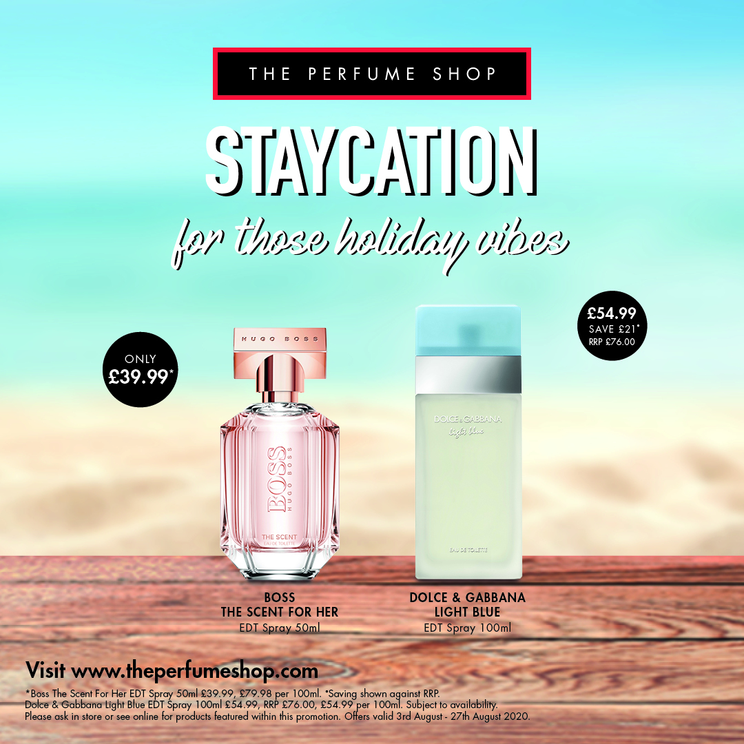 Staycation savings at The Perfume Shop