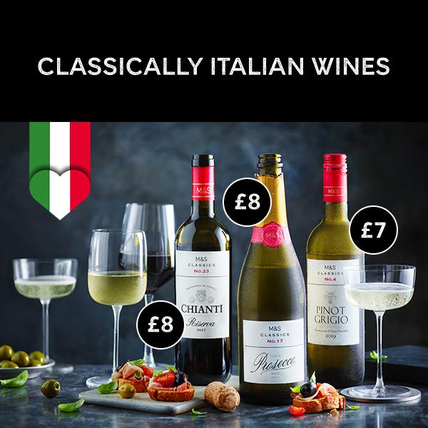 M&S has classically Italian wines