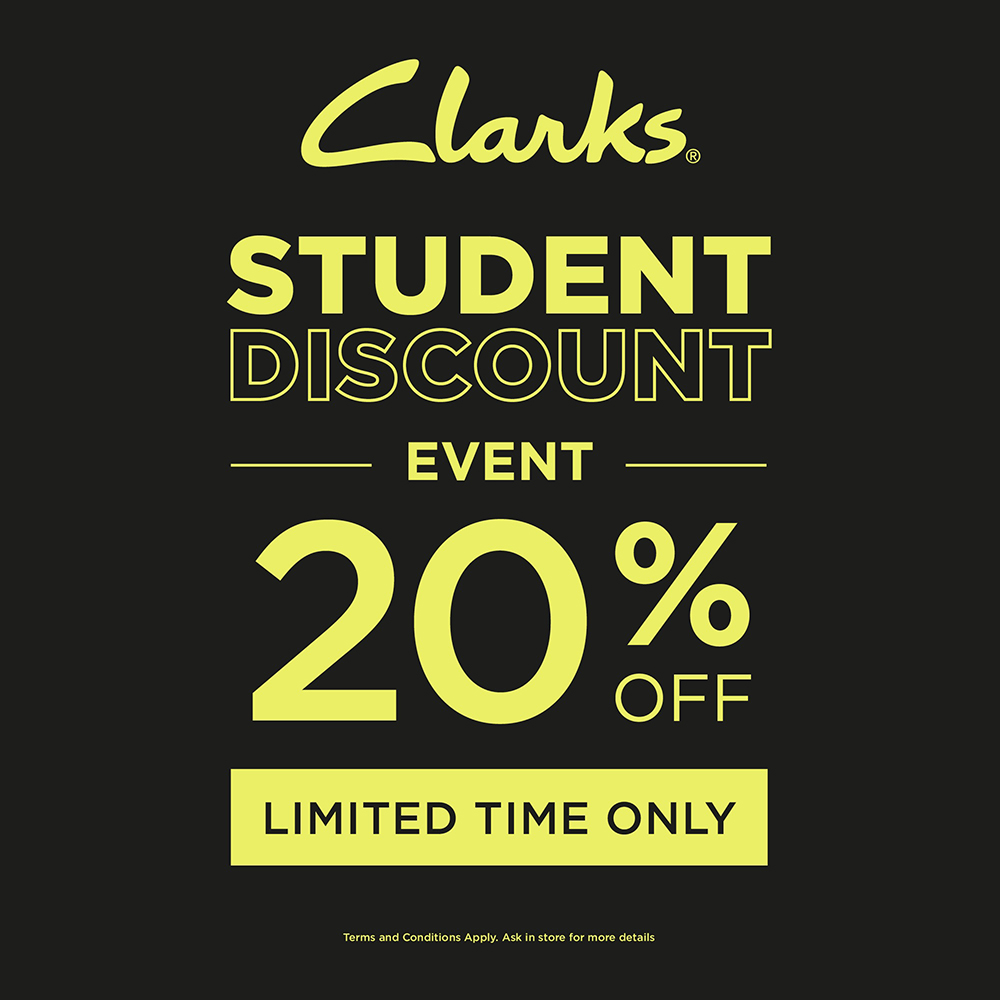Clarks has 20% off for Students