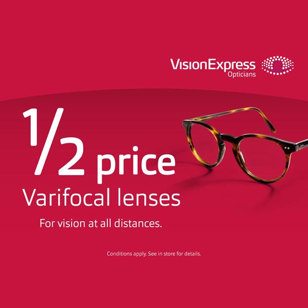 Vision Express has 50% off varifocals