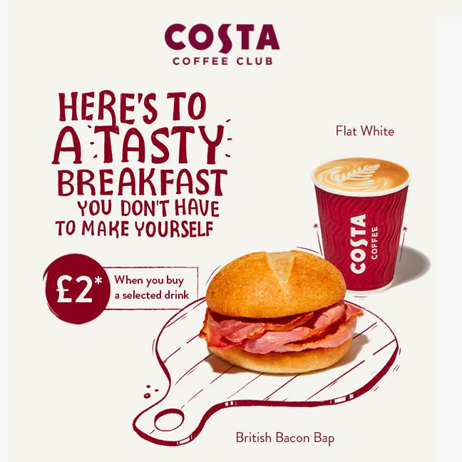 Breakfast at Costa