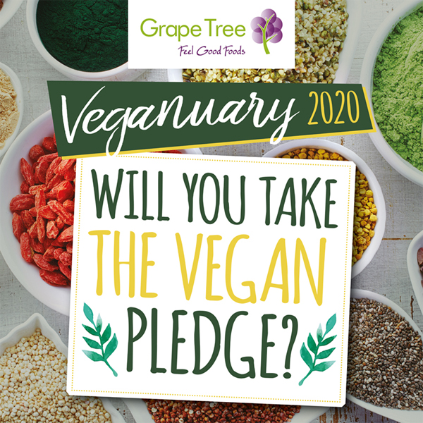 Pledge vegan with Grape Tree